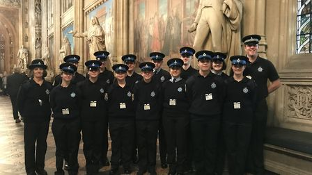 St Albans and Harpenden Cadets went sightseeing in London.