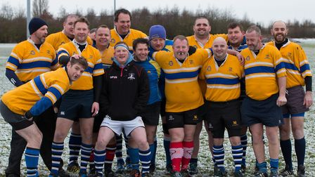 The Overs team who took part in the annual St Ives charity match. Picture: PAUL COX