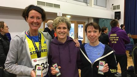 St Albans Striders won the women's team prize at the Buntingford 10