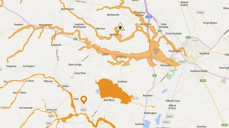 Flood alerts have been issued for Huntingdonshire. Picture: ENVIRONMENT AGENCY