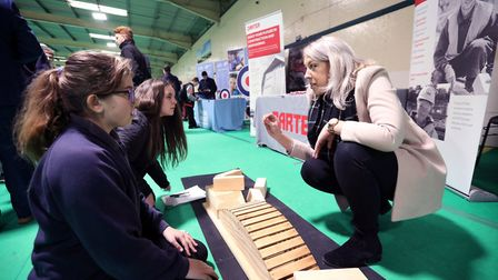 Pupils enjoyed a careers fair at Wood Green, in Godmanchester. Picture: TIM GEORGE