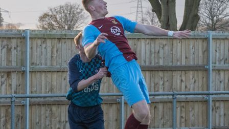 Rhys Thorpe scored for Eaton Socon against Gamlingay and when they knocked Brampton out of the Hunts