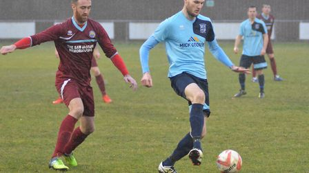 Arran Mackay in action for Godmanchester Rovers.