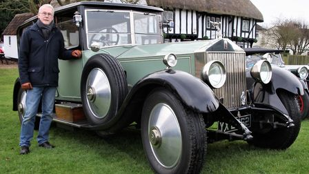 Roger Coleman with his 1926 Rolls Royce Phantom 1, which has been in his family for 53 years. Pictur