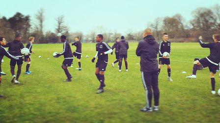 The first class at the Ben Herd Pro Performance Academy go through their paces