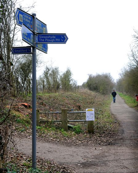The Alban Way is ideal way of exploring the local area