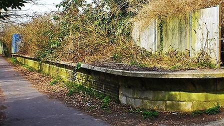The platform at what was once Smallford Station