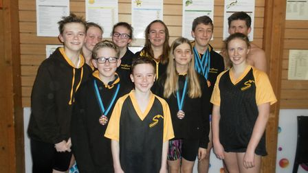 First Strokes Godmanchester swimmers who competed in the Cambridgeshire County Championships.