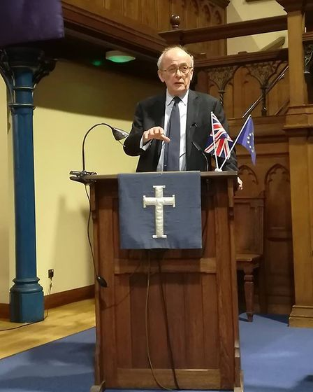 Lord Kerr at the StAfE public meeting. Picture: StAfE