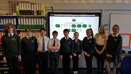 A group of year 7 and 8 pupils at Greneway have been busy training as digital leaders. Picture: Gren