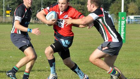 Joe Woodgate was one of the St Neots try-scorers against Thorney. Picture: RACHEL CAMERON