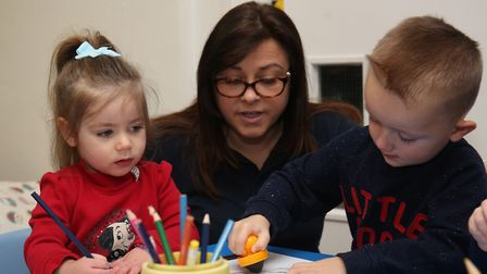 Children play in the new Paperchain nursery at London Colney Nursery and Primary School. Picture: Da