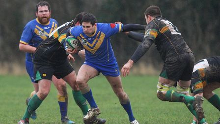 Josh Lawrence in action for Verulamians.Picture: Karyn Haddon.