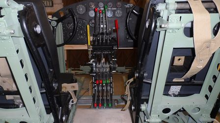 BOMBER: The cockpit area of the Short Stirling recreation