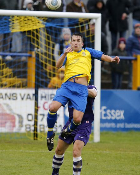 Sam Merson in action against East Thurrock United. Picture: LEIGH PAGE