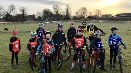 Members of the St Ives Cycling Club 'Go Ride' team who took part in the latest North Cambs Muddy Mon