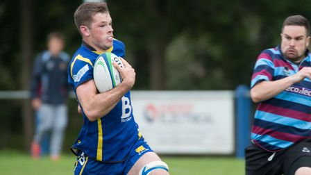 Ollie Raine scored St Ives' late try in their draw at title rivals Northampton Casuals. Picture: PAU