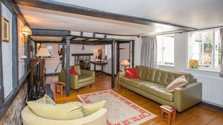 Exposed beams are just one of the property's character features