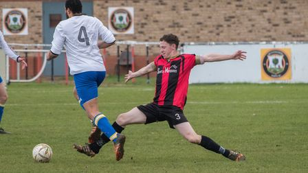 James Seymour is available for Huntingdon Town again following suspension. Picture: J BIGGS PHOTOGRA