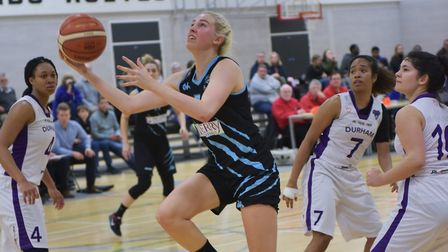 Tia Freeman in action for Oaklands Wolves against Durham Palatinates in the WBBL. Picture: LELLO AME