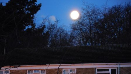 The super moon over St Albans. Picture: Steve Greenwood.