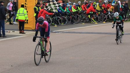 Beth Watson takes second place at Hillingdon for Verulam Reallymoving. Picture: STRAFFORD WATSON