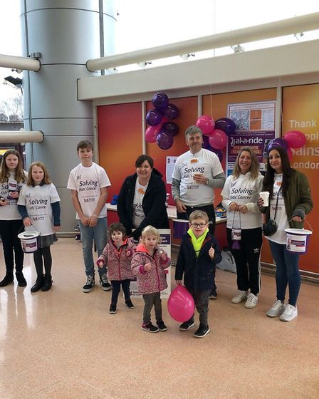 Fundraising for Isla at London Colney Sainsbury's. Picture: Rick Austin