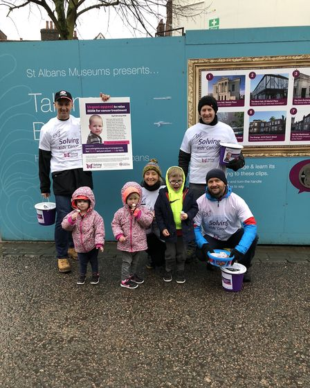 Fundraising for Isla at St Albans market. Picture: Rick Austin