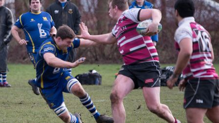 Ollie Bartlett of St Ives during their defeat against Queens. Picture: PAUL COX