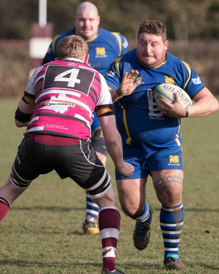 Josh Dear on the move for St Ives during their first defeat of the season at Queens. Picture: PAUL C