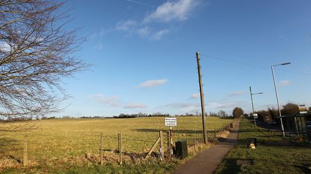 Farmland bordering Lower Luton Road in Batford on which Herts county council wants to build Katherin