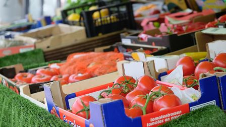 Some of the fresh produce available on Hatfield Road
