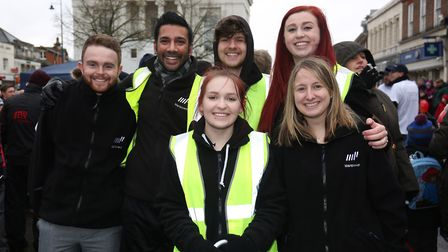 Team Manpower at the St Albans pancake race 2018. Picture: Danny Loo