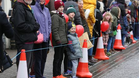 Spectators watching the St Albans pancake race 2018. Picture: Danny Loo