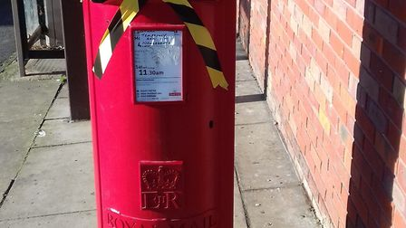 The sealed post box in St Ives