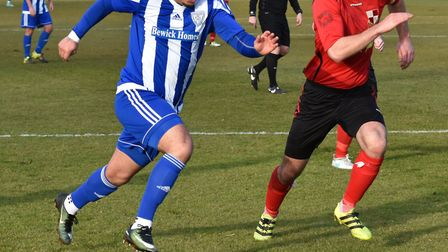 Dom Lawless hit the only goal as Eynesbury Rovers' beat Sileby Rangers. Picture: J BIGGS PHOTOGRAPHY
