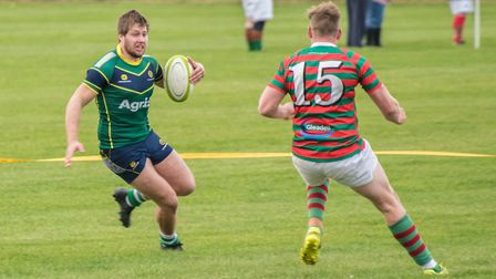 Barnie West scored a classy try as Huntingdon won at Market Rasen & Louth. Picture: J BIGGS PHOTOGRA