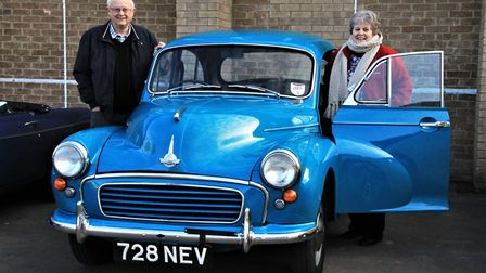 Although the bulk of the vehicles were MGs, there were exceptions - Geoff and Kay Glover from Ely br