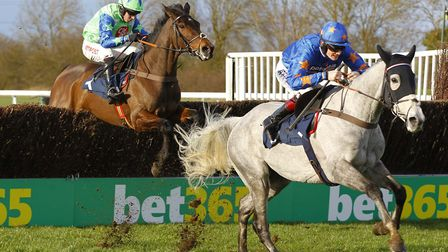 Antartica De Thaix powers away from Desert Queen at the final fence to win the the 188Bet Lady Prot
