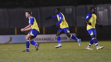Sam Merson (left) and Solomon Sambou (right) have signed new contracts at St Albans City. Picture: B