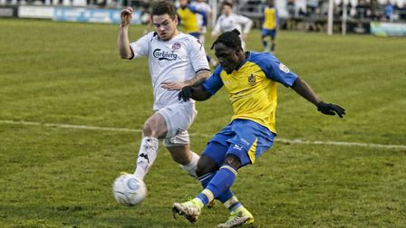Solomon Sambou has been a regular fixture in the St Albans City side this season. Picture: LEIGH PAG