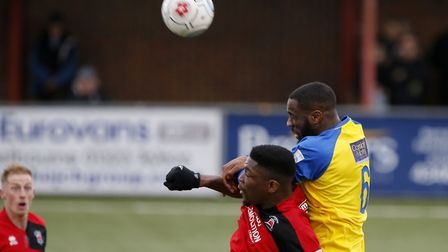 St Albans City's Harold Joseph hads joined Hendon on a month's loan. Picture: LEIGH PAGE
