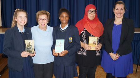 Eva Schloss with STAGs students. Picture: STAGs