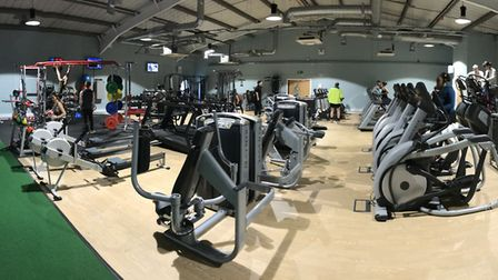 The new gym at One Leisure Huntingdon, which has doubled in size following an £800,000 investment by