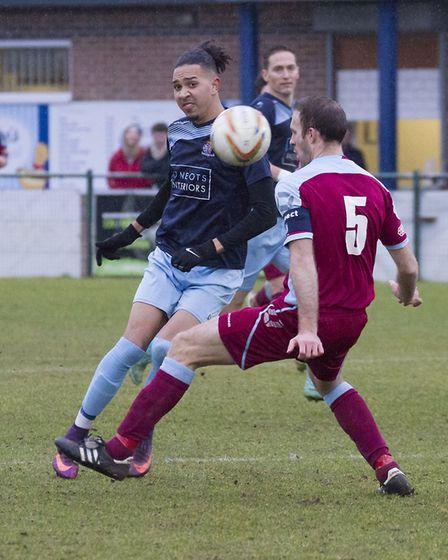 Lewis Irwin struck two of the goals as St Neots Town beat Chesham. Picture: CLAIRE HOWES