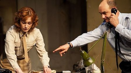Pressure, David Haig as Group Captain James Stagg and Laura Rogers as Kay Summersby