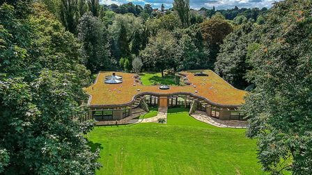 A birds-eye view of the St Albans house, which featured on Channel 4's Grand Designs last year