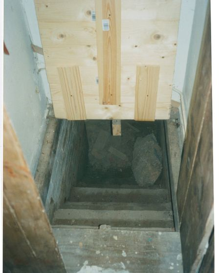 Secret space: The unearthed staircase