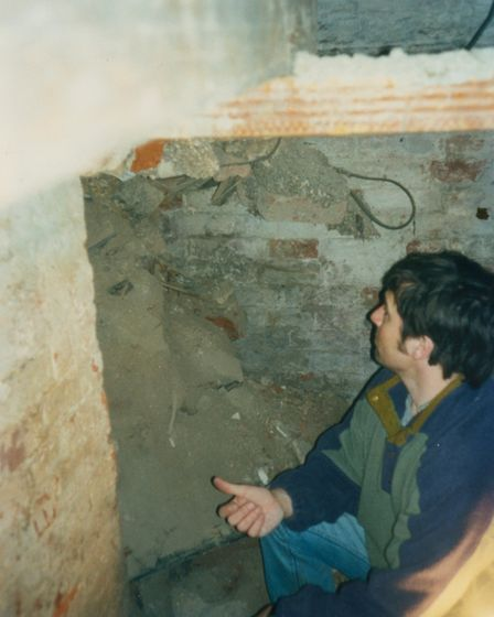 Mr Taylor had lived at the property for five years before he unearthed the cellar