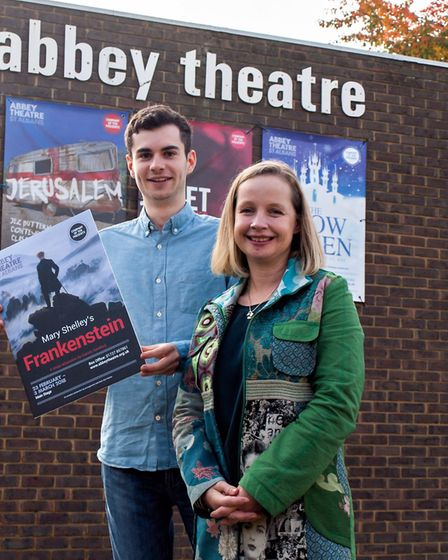 Conor Gray and Sinead Dunne outside the Abbey Theatre in St Albans [Picture: Nick Clarke]